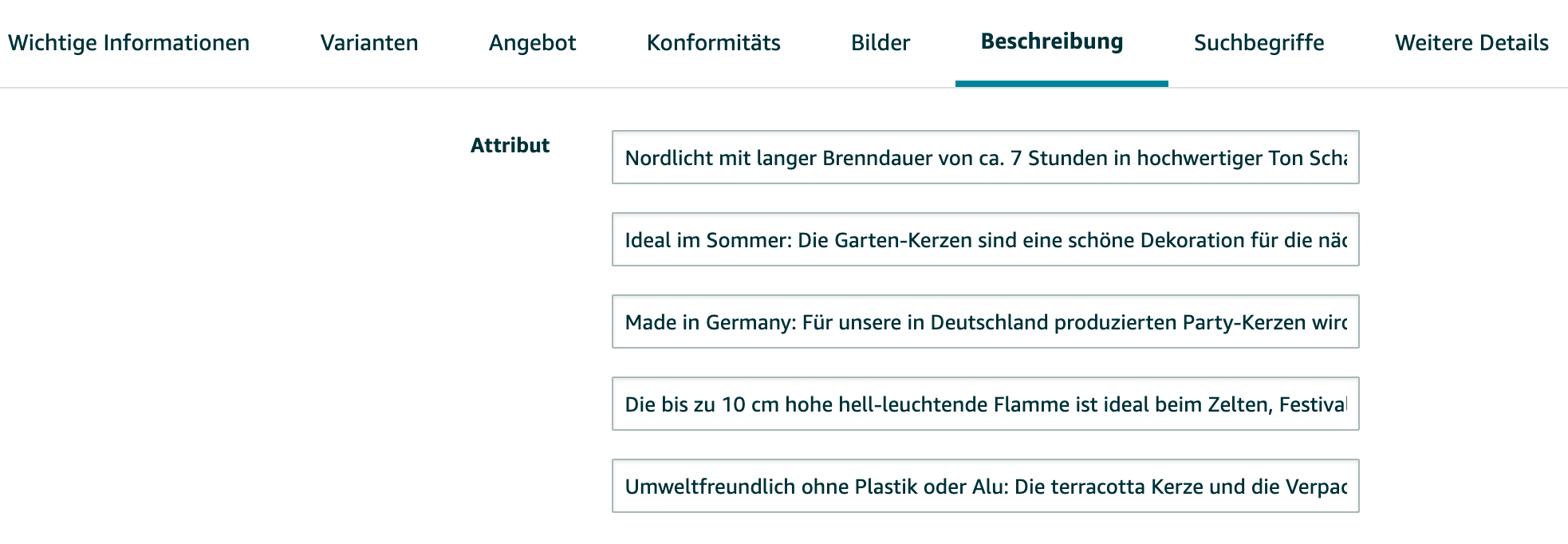 Amazon SEO Tipps - Bullet Points Schlüsselwörter im Amazon Seller Central