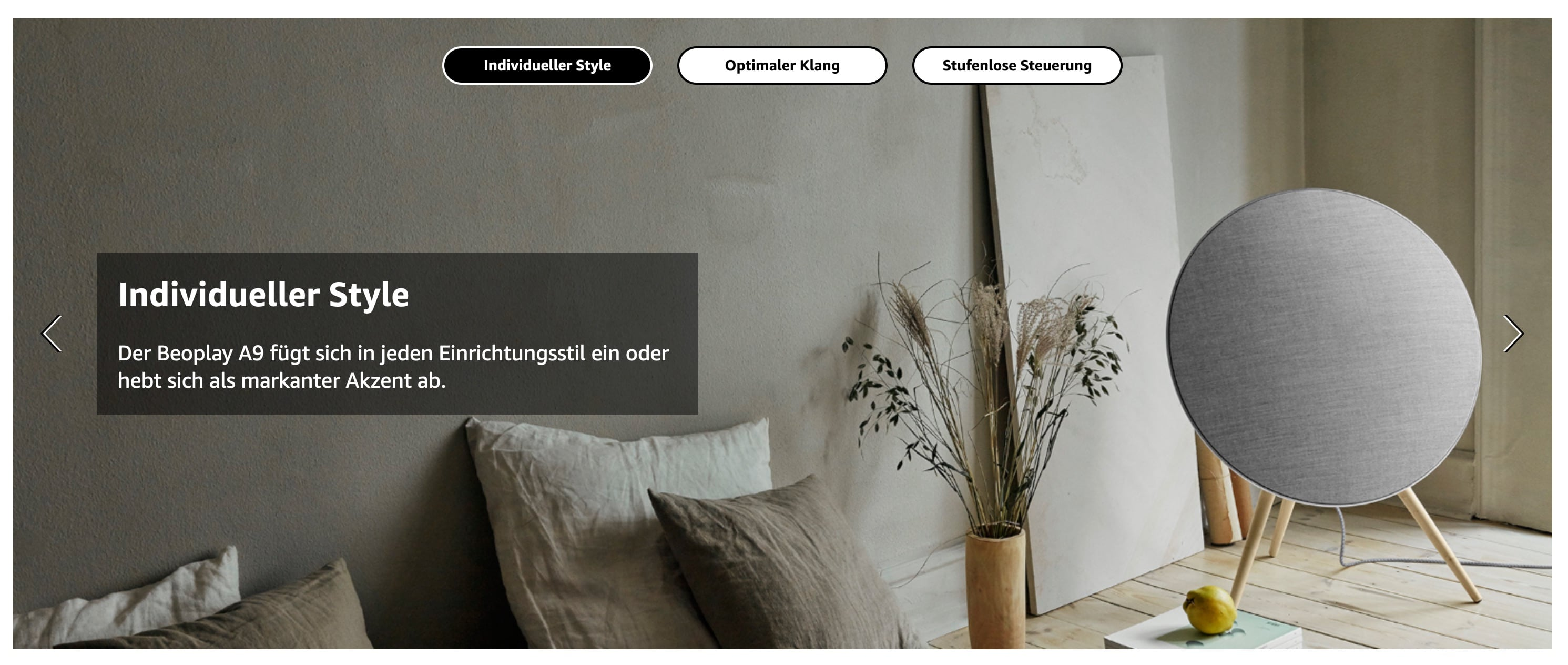 Amazon A+ Premium Content Element Bild-Slider